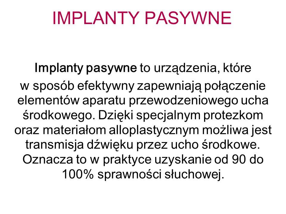 Implanty pasywne to urządzenia, które