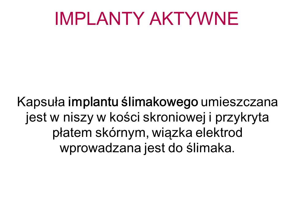 IMPLANTY AKTYWNE