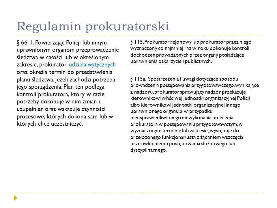 Regulamin prokuratorski