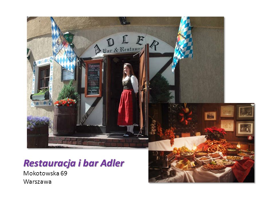 Restauracja i bar Adler Mokotowska 69 Warszawa