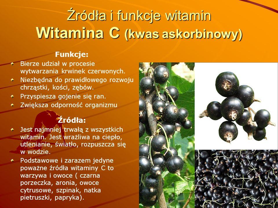 Źródła i funkcje witamin Witamina C (kwas askorbinowy)