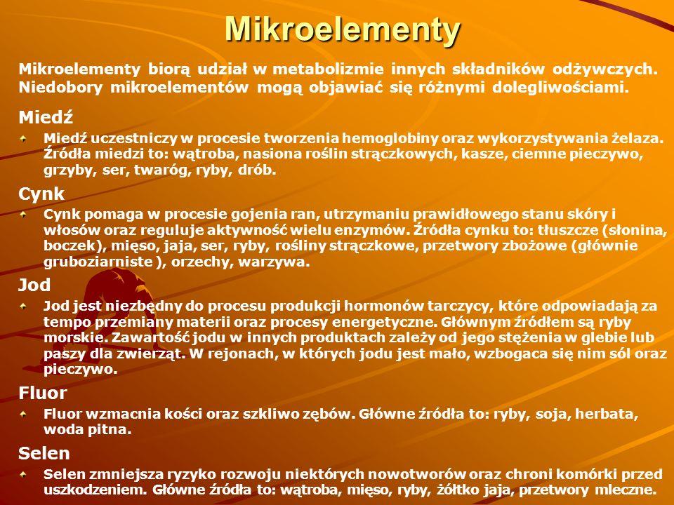 Mikroelementy Miedź Cynk Jod Fluor Selen
