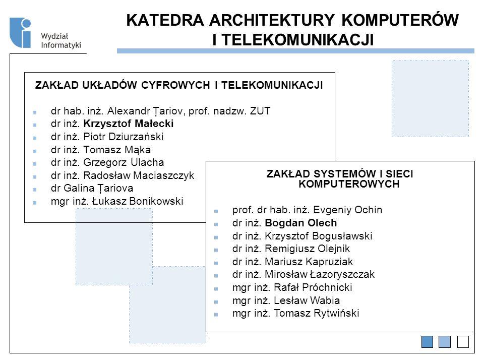 KATEDRA ARCHITEKTURY KOMPUTERÓW I TELEKOMUNIKACJI