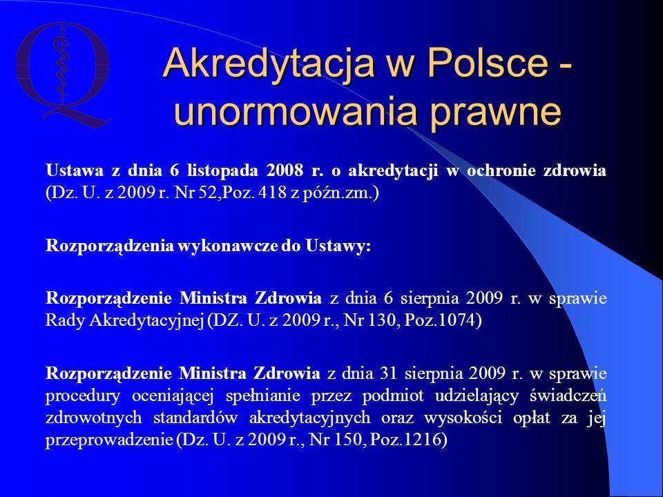 Akredytacja w Polsce - unormowania prawne