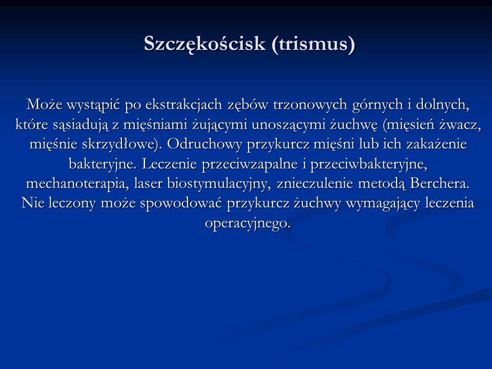 Szczękościsk (trismus)