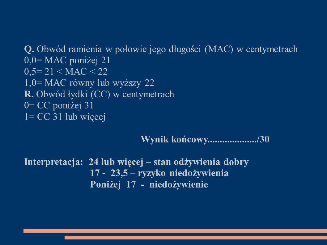 Q. Obwód ramienia w połowie jego długości (MAC) w centymetrach