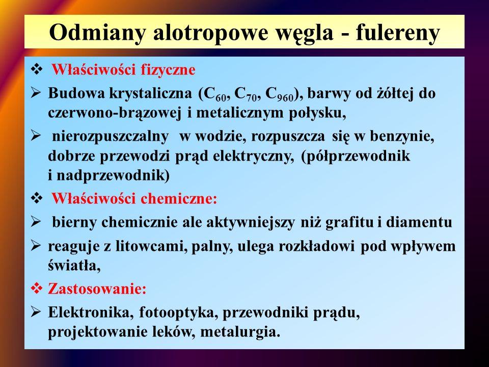 Odmiany alotropowe węgla - fulereny