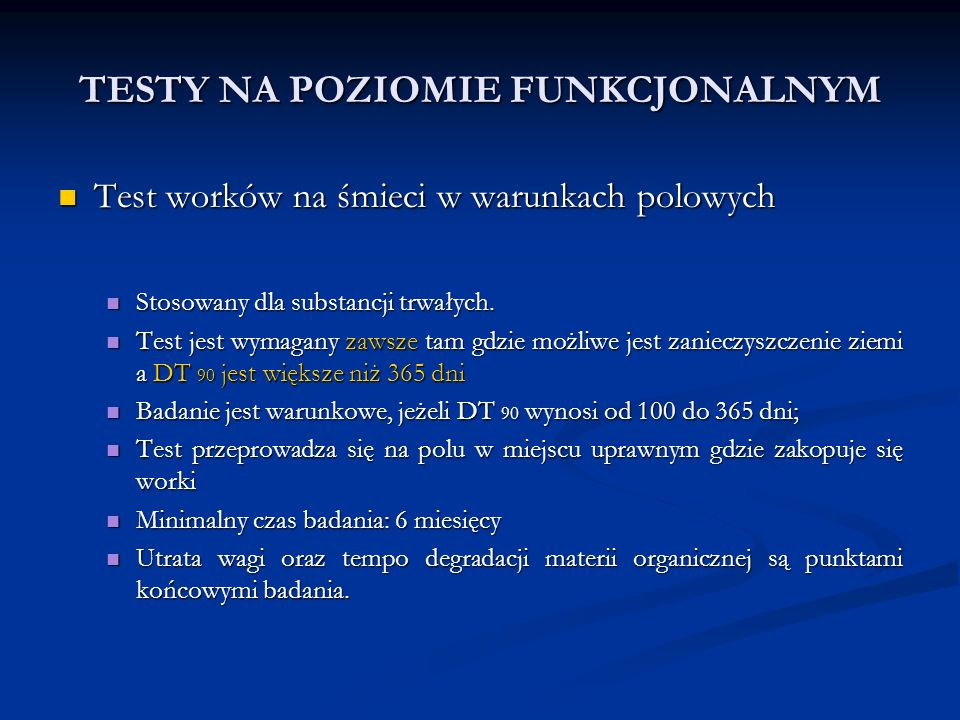 TESTY NA POZIOMIE FUNKCJONALNYM