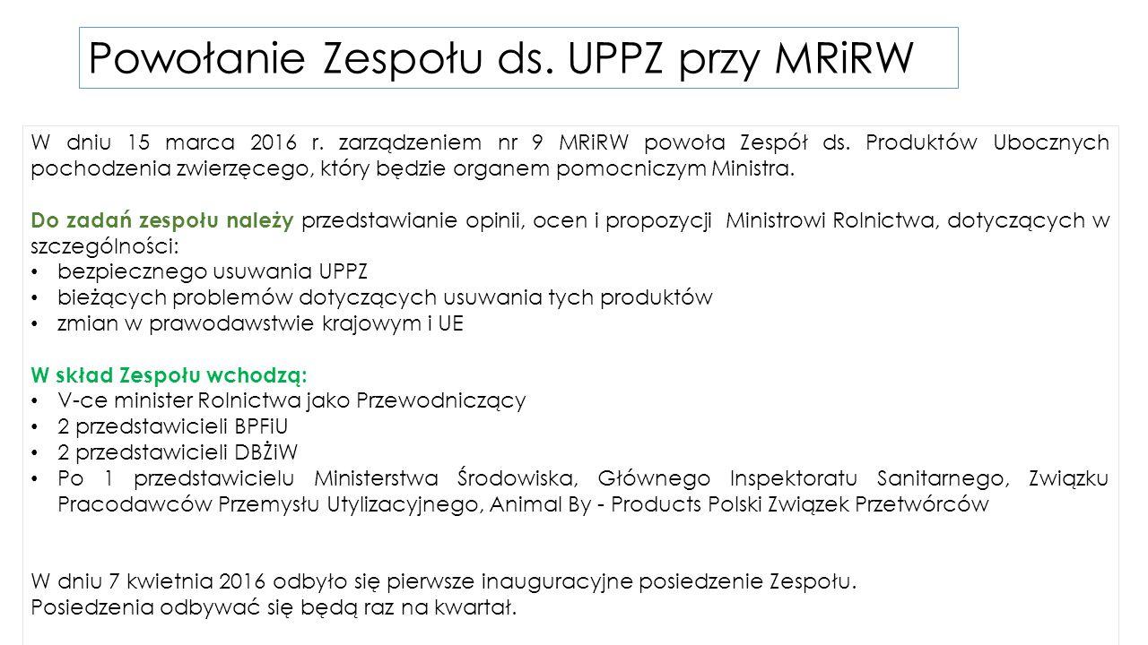 Powołanie Zespołu ds. UPPZ przy MRiRW