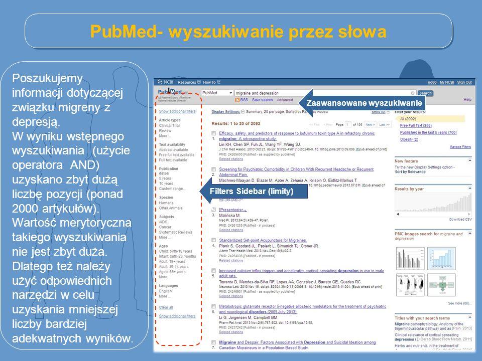 PubMed- wyszukiwanie przez słowa