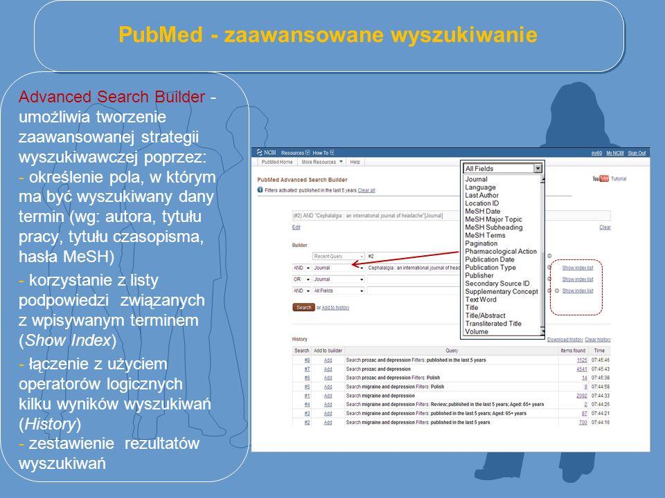 PubMed - zaawansowane wyszukiwanie