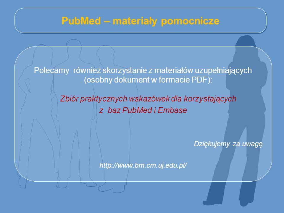PubMed – materiały pomocnicze