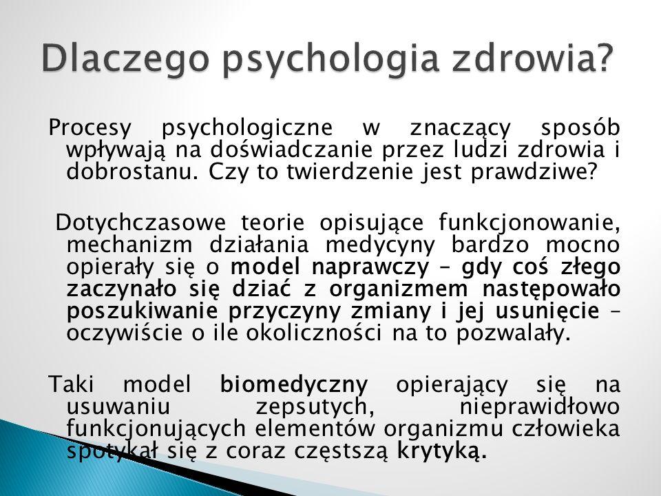 Dlaczego psychologia zdrowia
