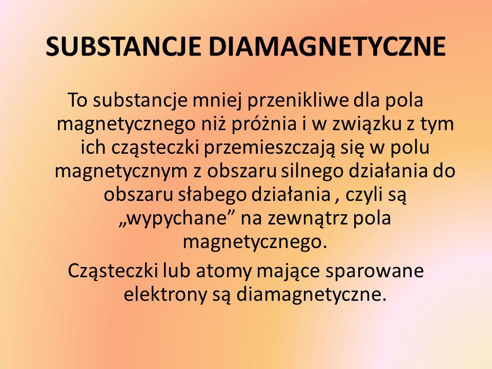 SUBSTANCJE DIAMAGNETYCZNE