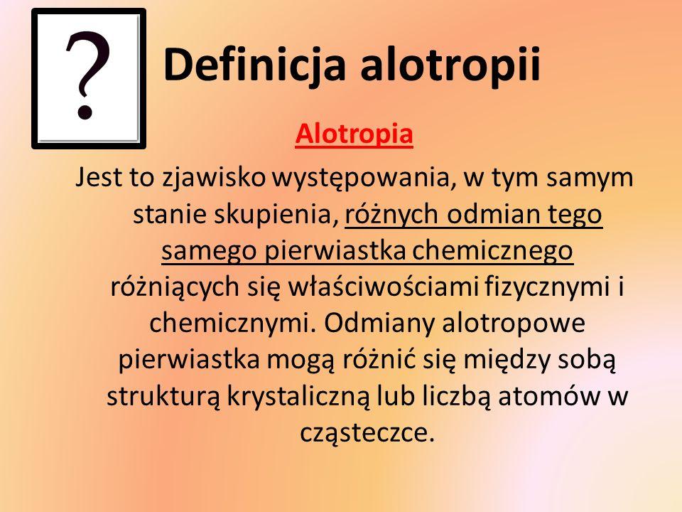 Definicja alotropii