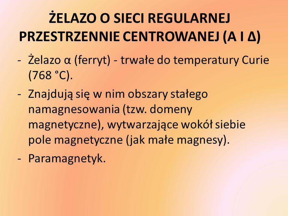 ŻELAZO O SIECI REGULARNEJ PRZESTRZENNIE CENTROWANEJ (Α I Δ)