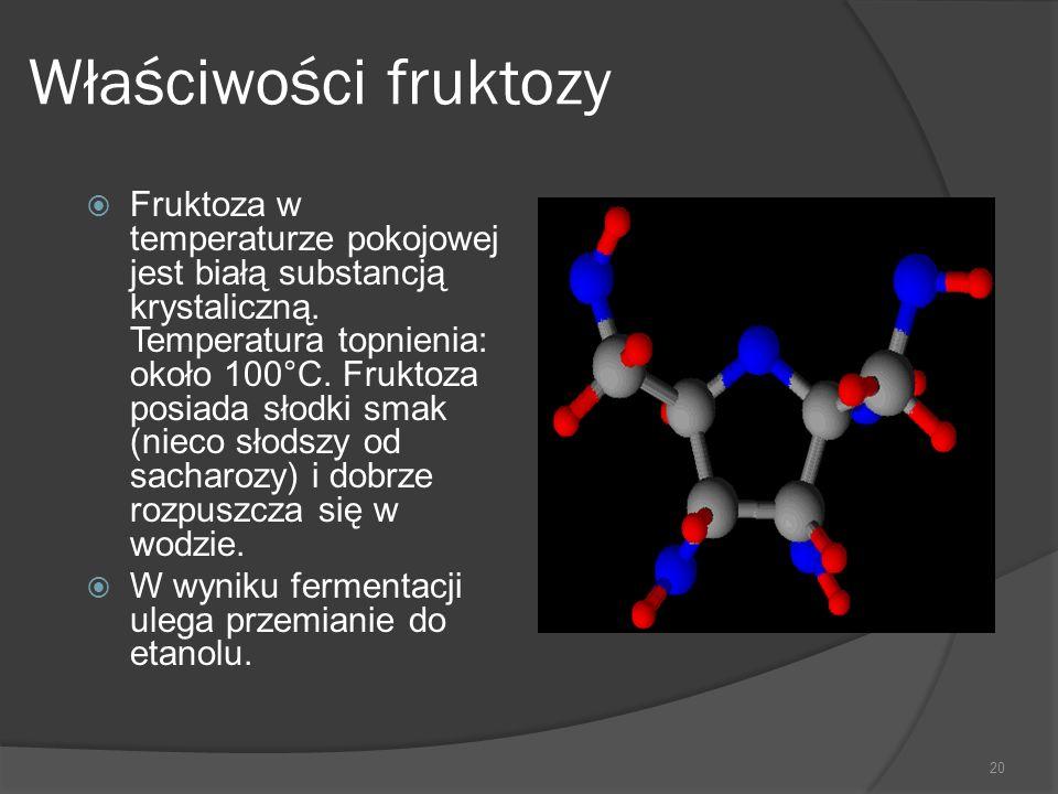 Właściwości fruktozy
