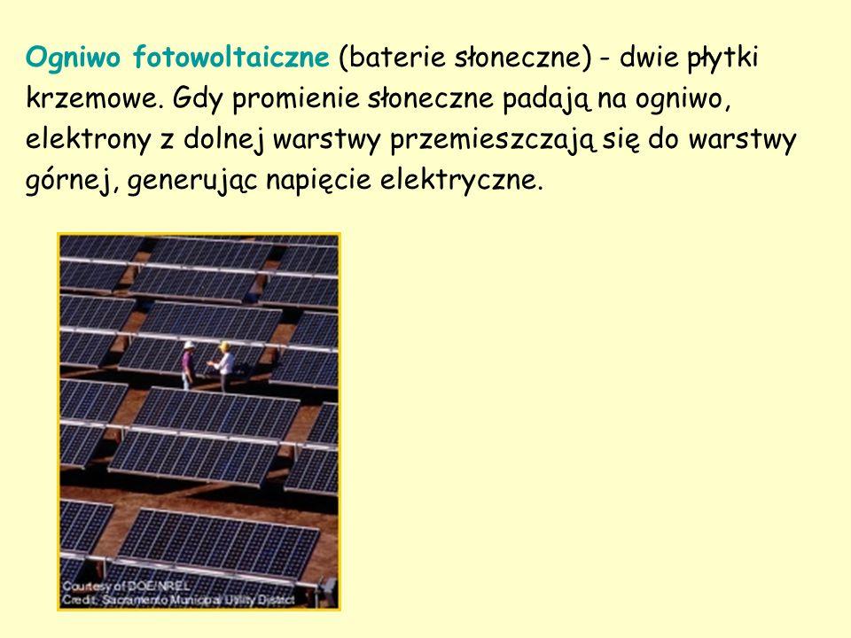 Ogniwo fotowoltaiczne (baterie słoneczne) - dwie płytki krzemowe