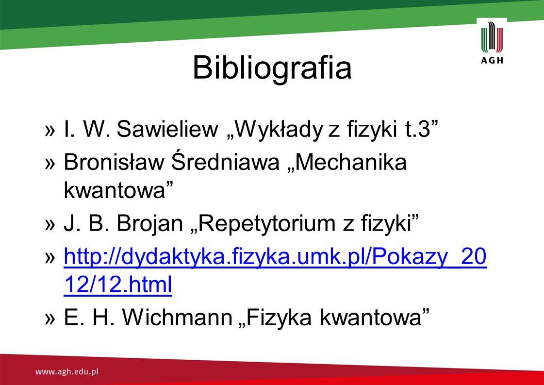 """Bibliografia I. W. Sawieliew """"Wykłady z fizyki t.3"""