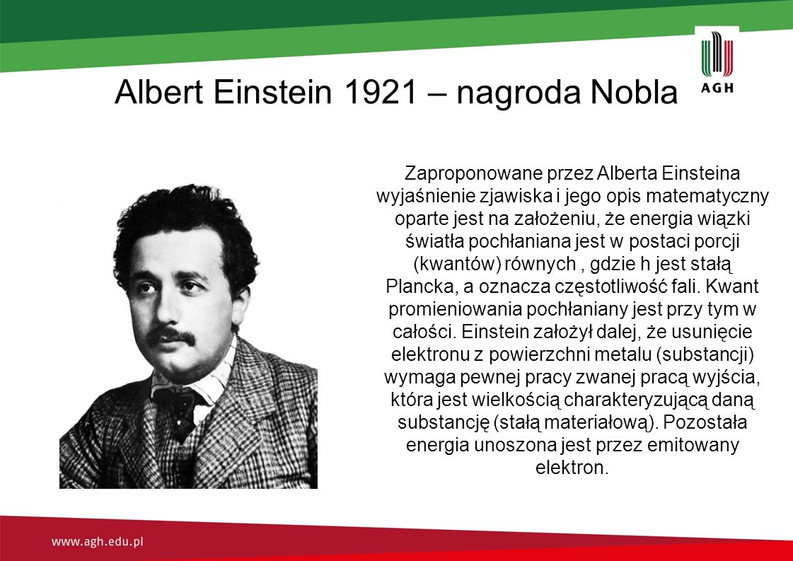 Albert Einstein 1921 – nagroda Nobla