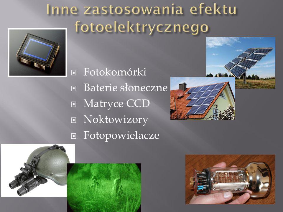 Inne zastosowania efektu fotoelektrycznego