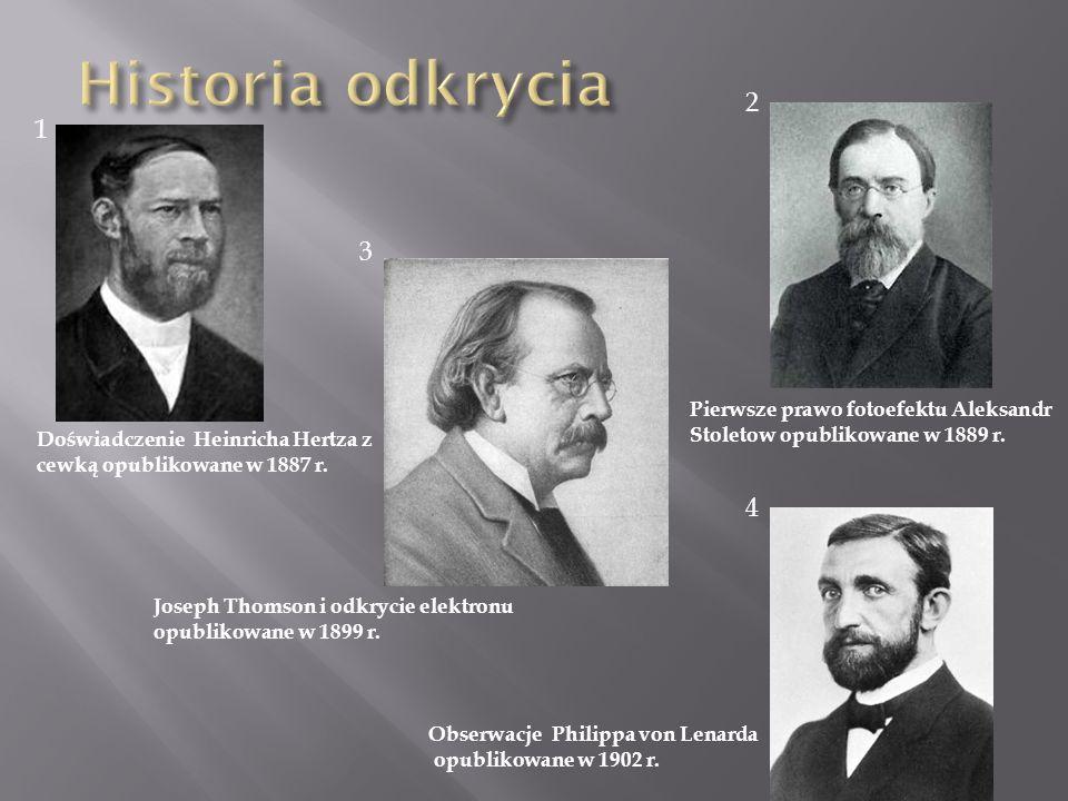 Historia odkrycia 2 1 3 4 Pierwsze prawo fotoefektu Aleksandr