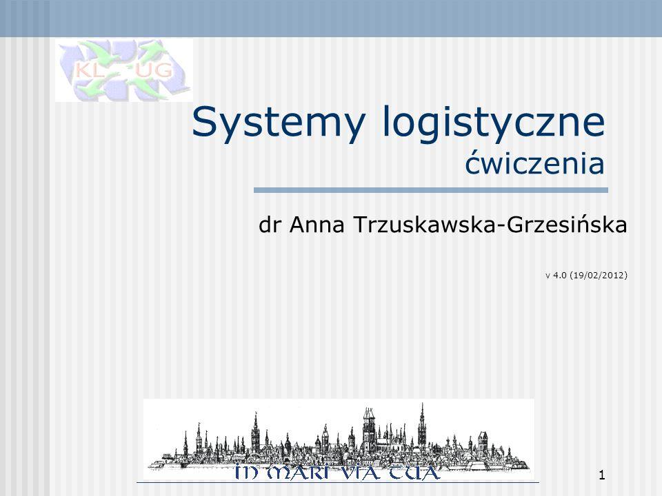 Systemy logistyczne ćwiczenia