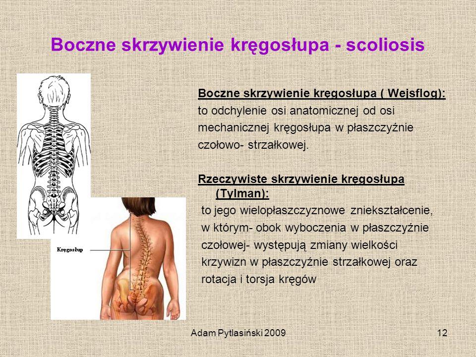 Boczne skrzywienie kręgosłupa - scoliosis