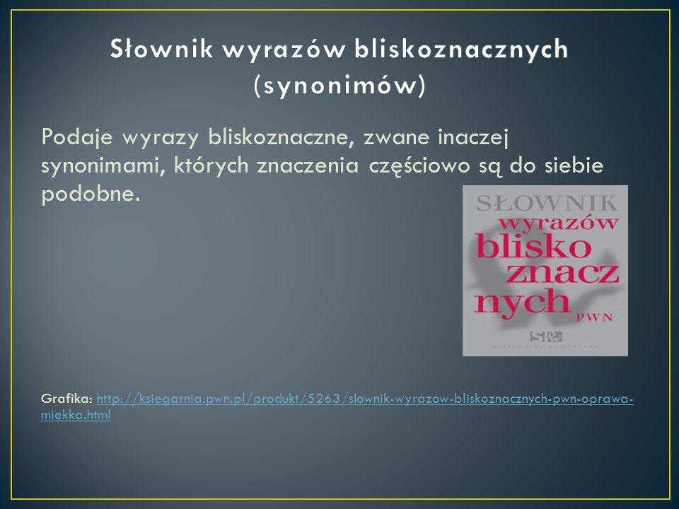 Słownik wyrazów bliskoznacznych (synonimów)