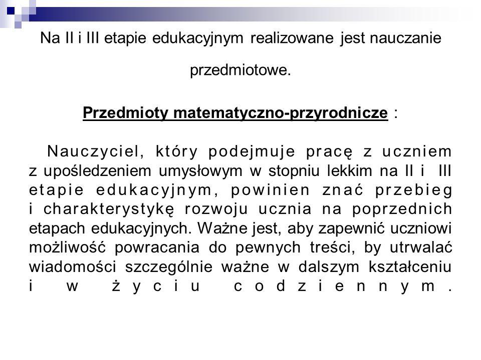 Przedmioty matematyczno-przyrodnicze :