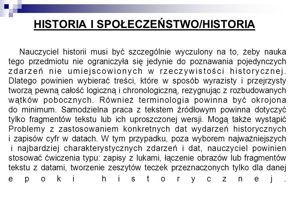 HISTORIA I SPOŁECZEŃSTWO/HISTORIA