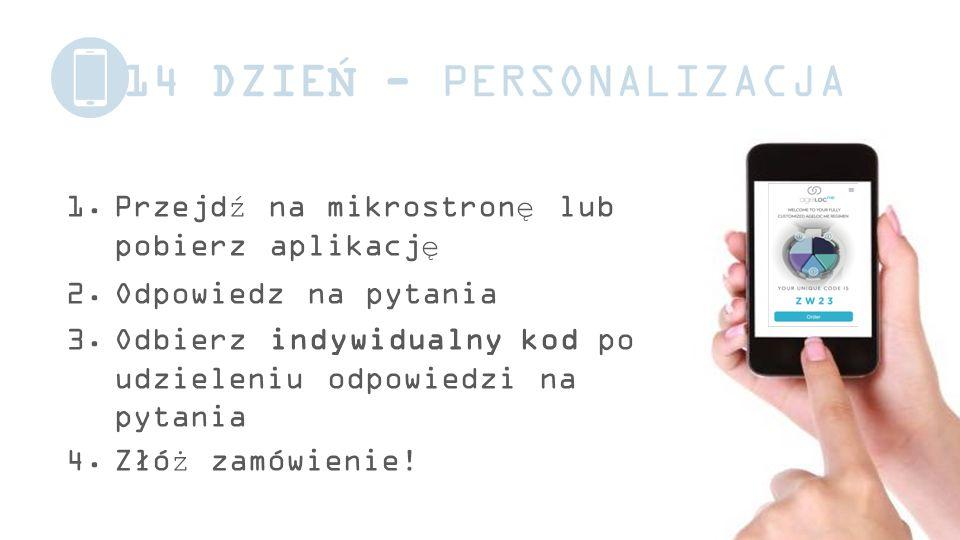 14 DZIEŃ - PERSONALIZACJA