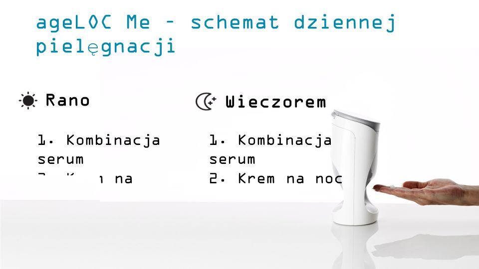 ageLOC Me – schemat dziennej pielęgnacji