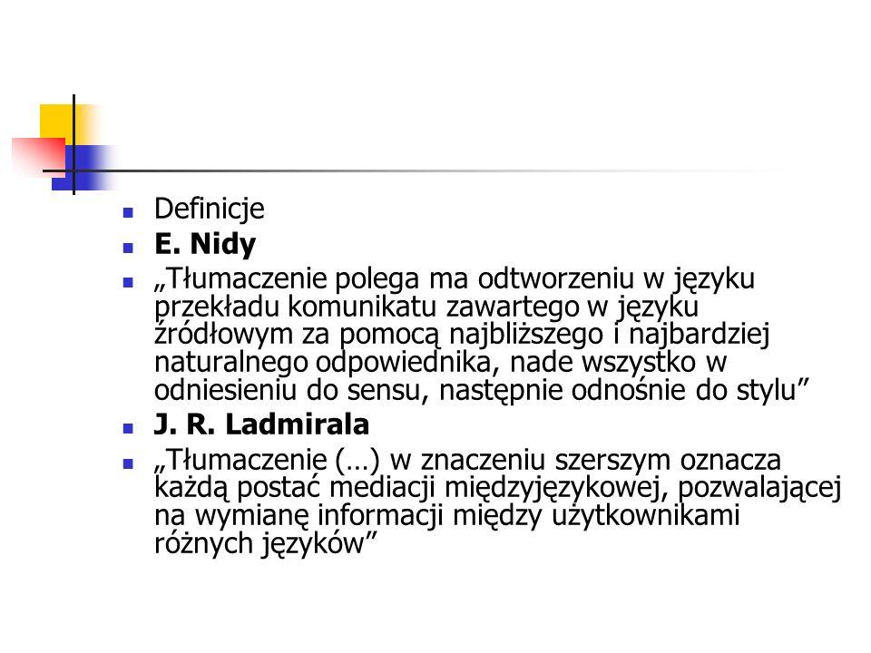 Definicje E. Nidy.