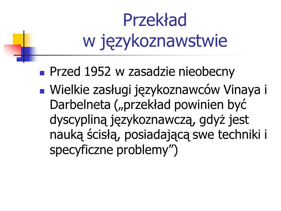 Przekład w językoznawstwie