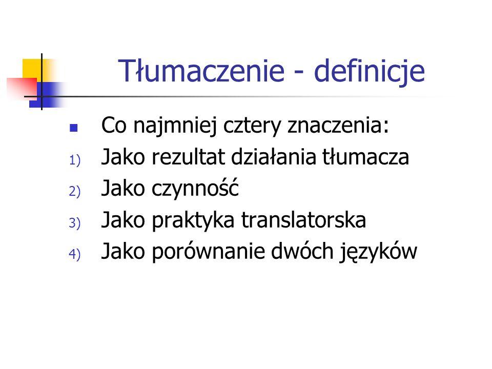 Tłumaczenie - definicje