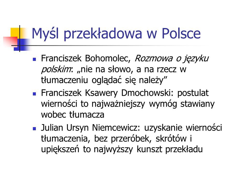 Myśl przekładowa w Polsce