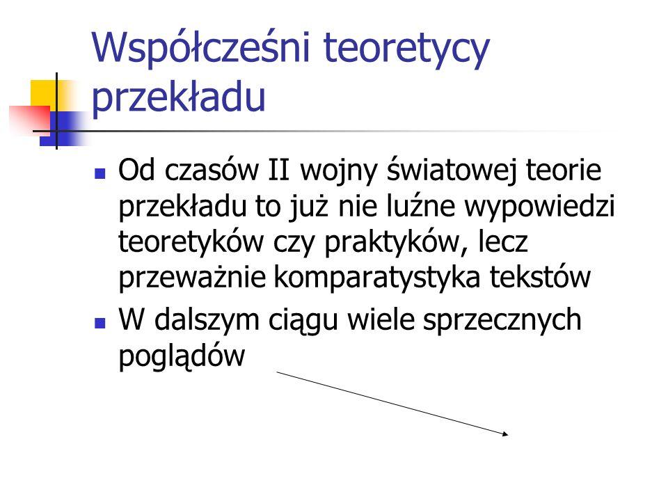 Współcześni teoretycy przekładu