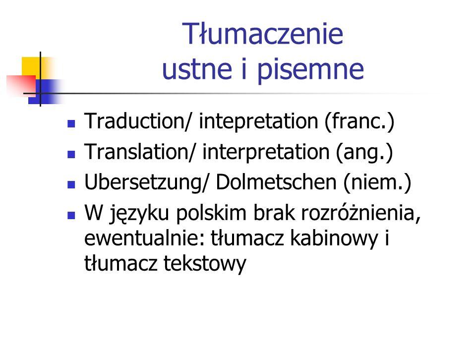 Tłumaczenie ustne i pisemne