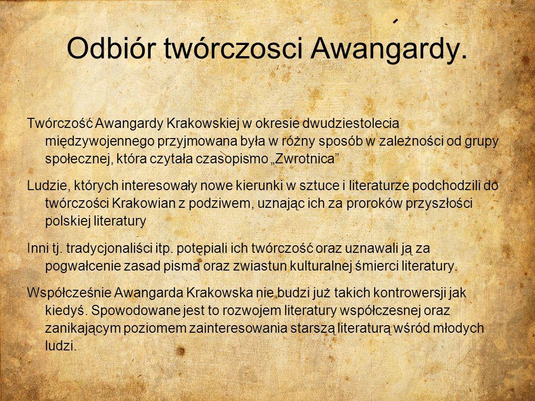 Odbiór twórczosci Awangardy.