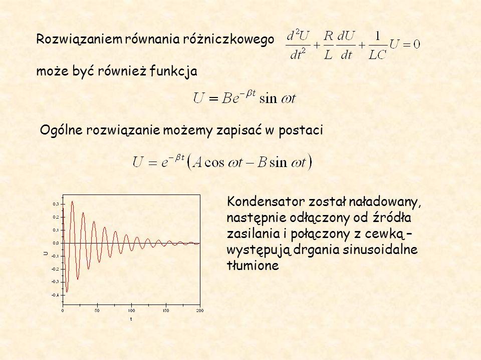 Rozwiązaniem równania różniczkowego