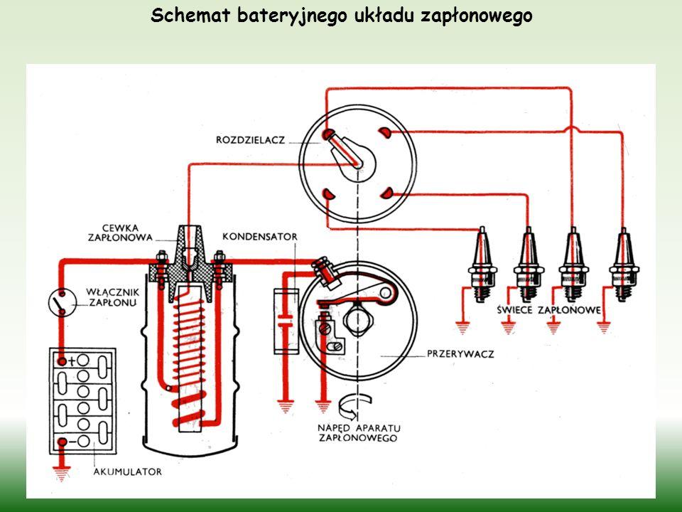 Schemat bateryjnego układu zapłonowego