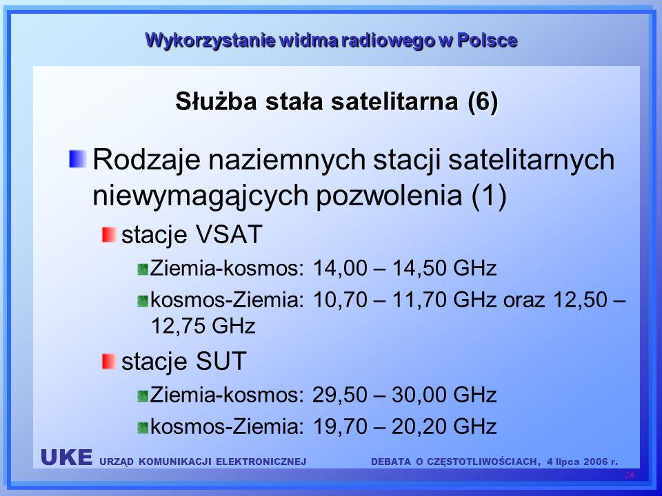 Służba stała satelitarna (6)