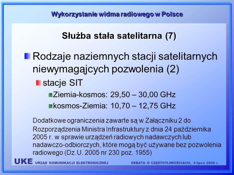 Służba stała satelitarna (7)