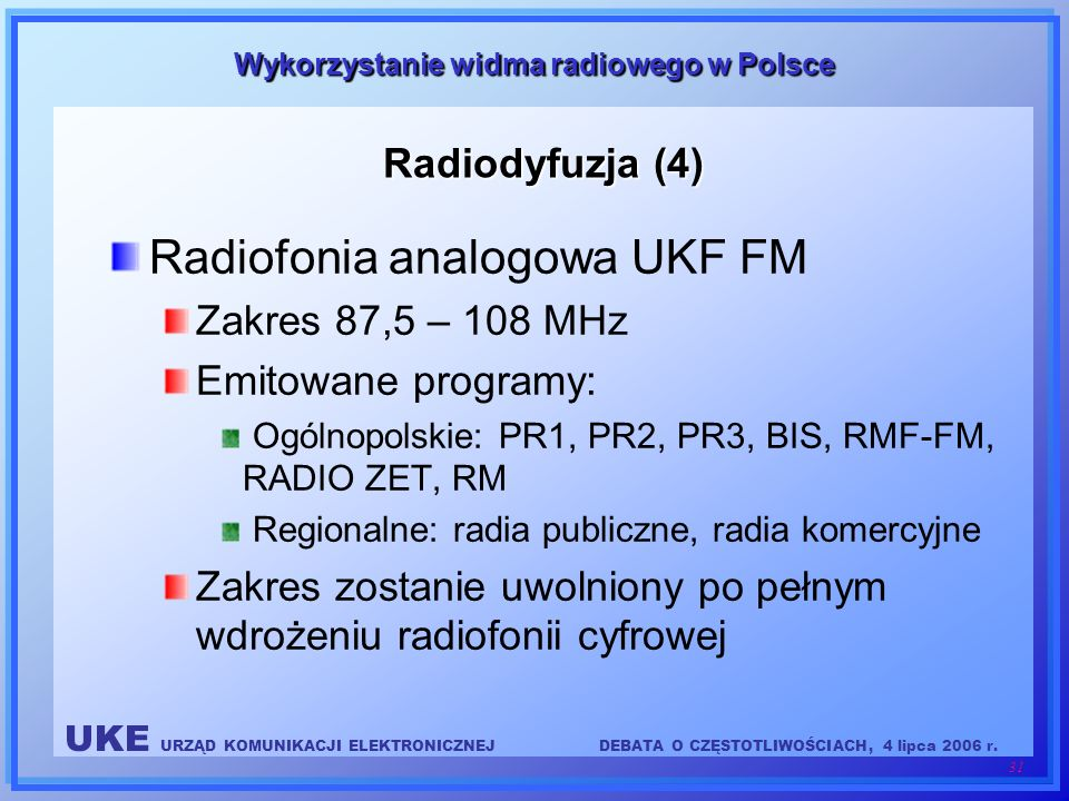 Radiofonia analogowa UKF FM