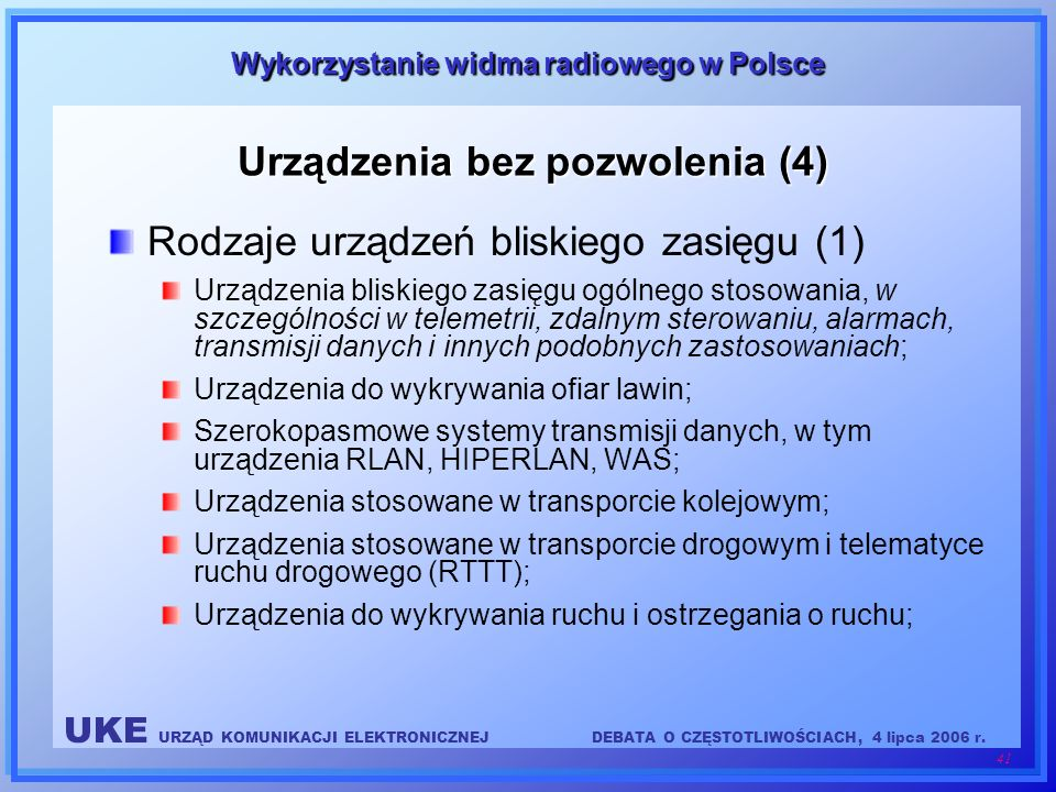 Urządzenia bez pozwolenia (4)