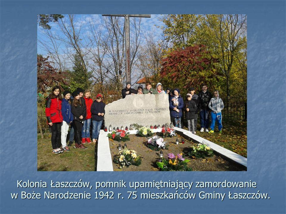 Kolonia Łaszczów, pomnik upamiętniający zamordowanie w Boże Narodzenie 1942 r.