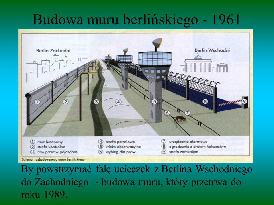 Budowa muru berlińskiego - 1961