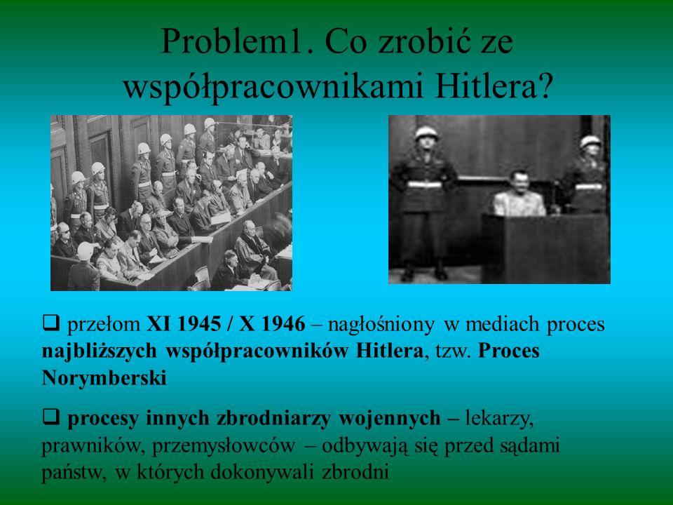 Problem1. Co zrobić ze współpracownikami Hitlera