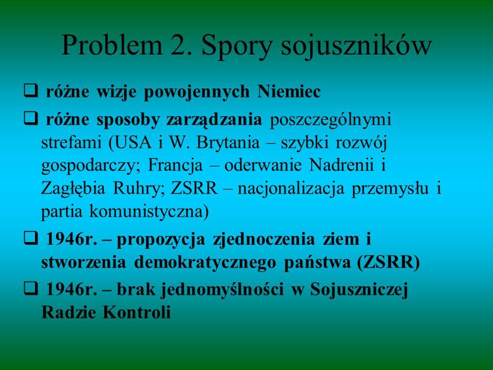 Problem 2. Spory sojuszników